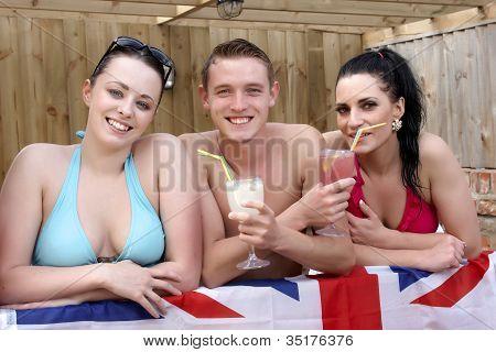 Three British Young People