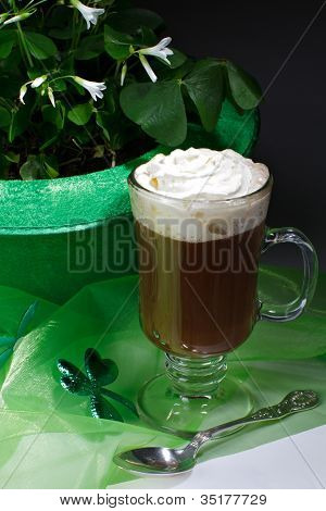 Shamrocks And Irish Coffee Dark Vertical