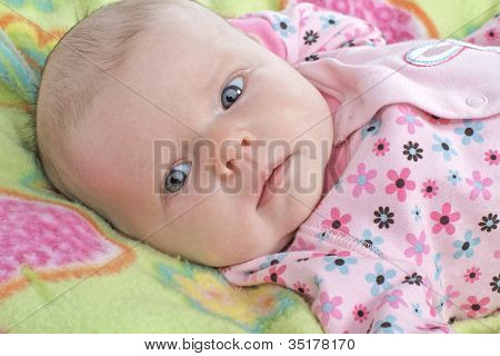 Beautiful Baby Girl With Spring Colors