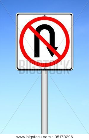 No Return Back Road Sign
