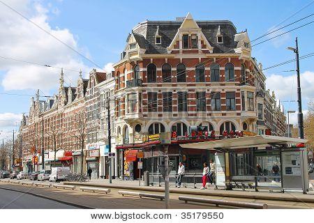 Rotterdam, Netherlands - April 1: The City Street On 01.04.2012 In Rotterdam, Netherlands.