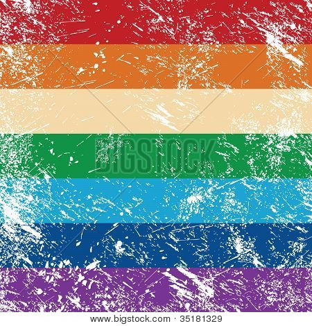 Gay rights retro flag