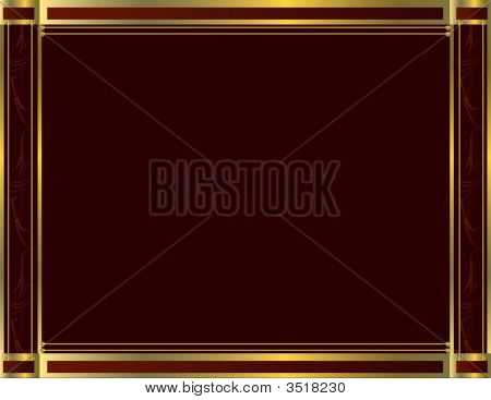 Formal Traditional Red Gold Background