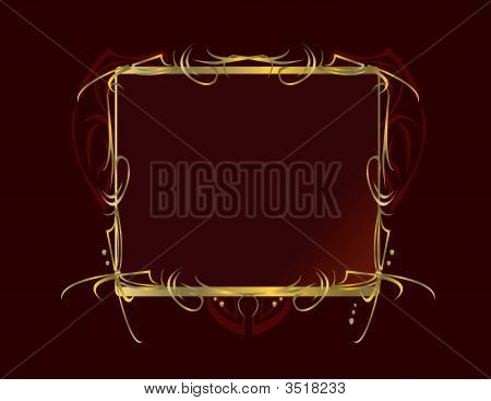 Red Gold Decorative Background