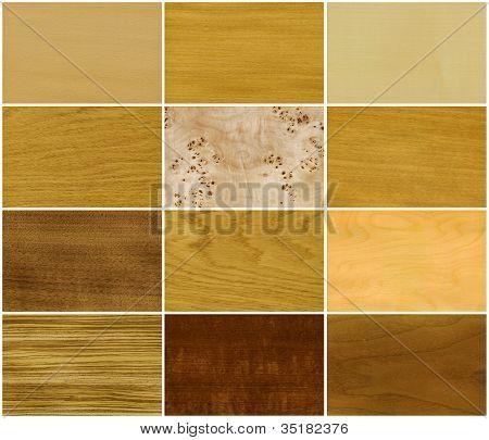 Wood, veneer set