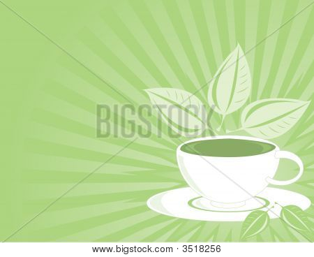 Green Tea Horizontal Background