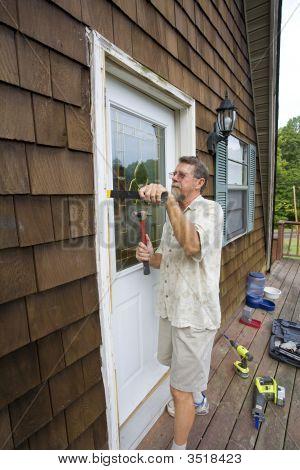 Elderly Carpenter Working
