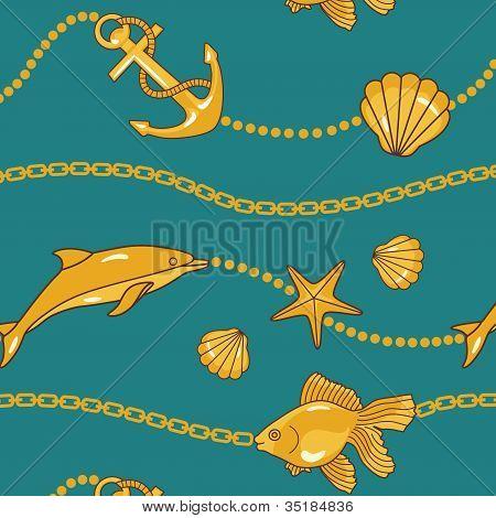 Gold Nautical Pattern
