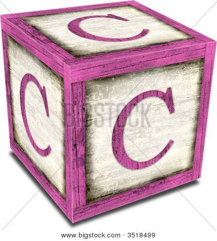 Alpha Block C Pink