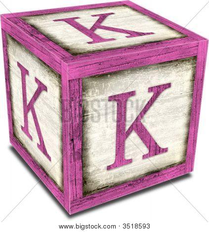 Alpha Block K Pink