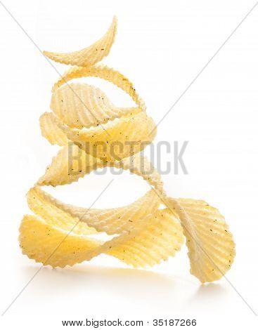 Rippled potato chips