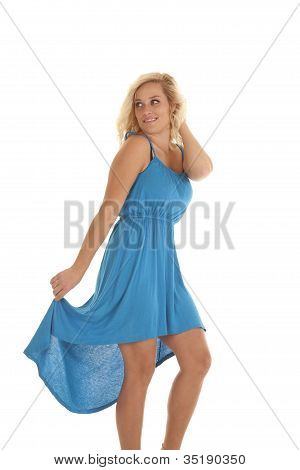 Smile In Blue Dress