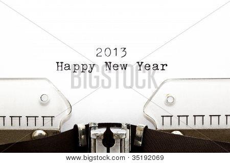 Typewriter 2013 Happy New Year