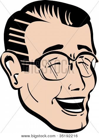 Retro Vintage 1950s Dad Father Clip Art