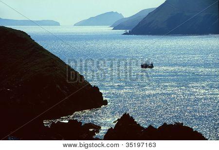 Fishing Boat In Bay