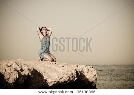 Woman - body on the beach