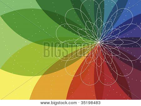 Spiro flower background
