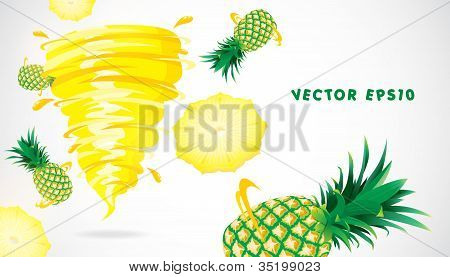 Pineapple with juicy twister