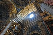 Gorgeous ?eiling Of The Baroque Chirch In Italy, Rome.