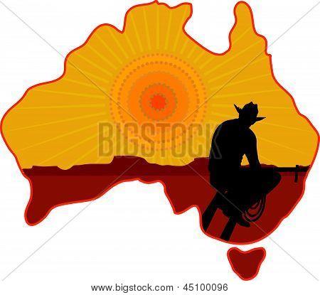 Australien Cowboy.eps