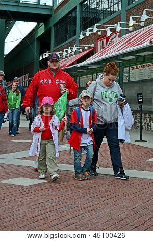Boston - Apr 20: Fenway Park On April 20, 2013 In Boston, Usa.