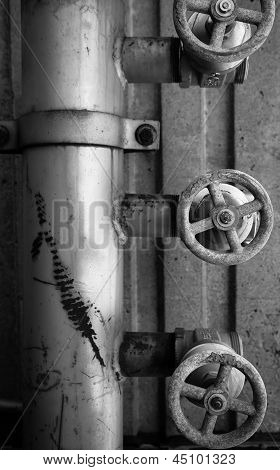 Old Pipe And Valves
