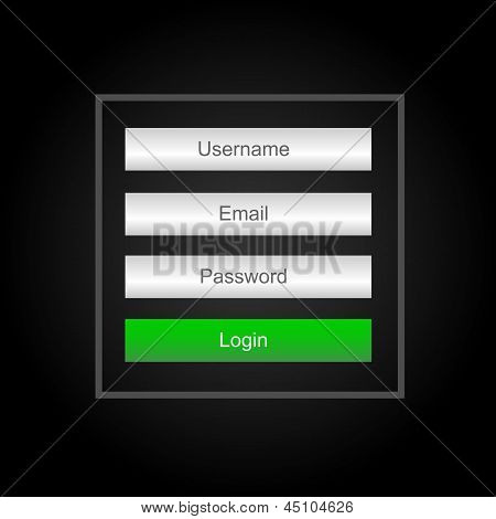Vector login interface