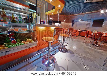 Small empty cafe-bar