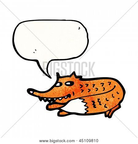 desenho de raposa sorrateira