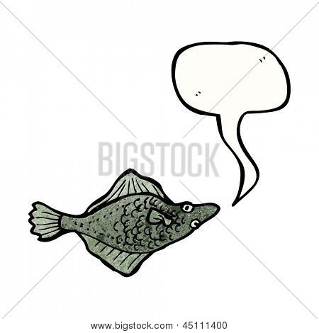 cartoon flatfish