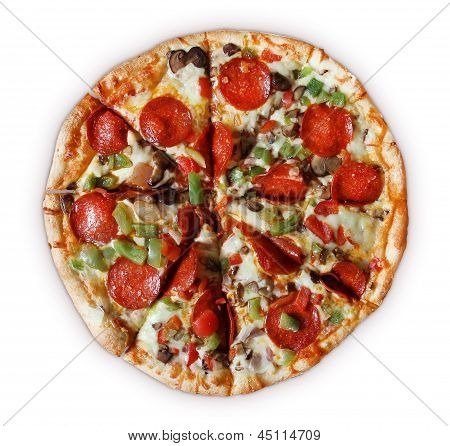 Deluxe Pizza - Sliced