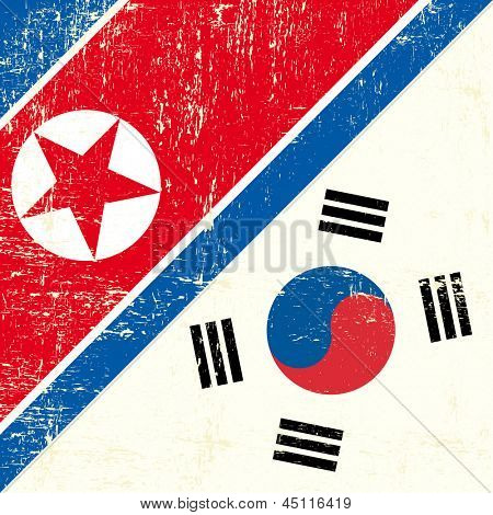 North Korean and South Korean Flag. this flag represents the relationship  between North Korea and South Korea