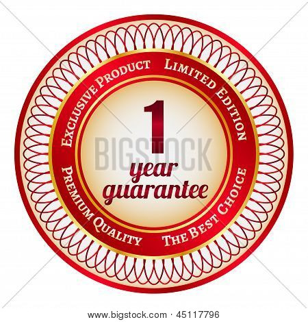 Label On 1 Year Guarantee