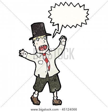 crazy cartoon tramp