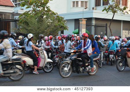 Street scene Phnom Penh, Cambodia