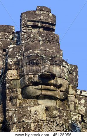 The Bayon is a well-known Khmer temple