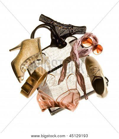 Nude Bridal Fashion Composition