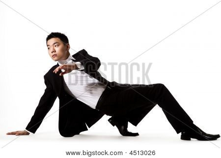 Asian Young Man In Stylish Attire