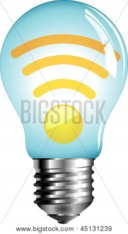 light bulb on white