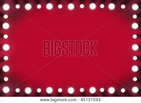 Backstage Mirror Red Background