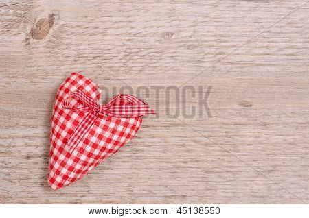 Red And White Checkered Heart