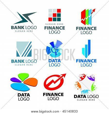 Colección de vectores de caracteres creativos a los bancos y empresas financieras