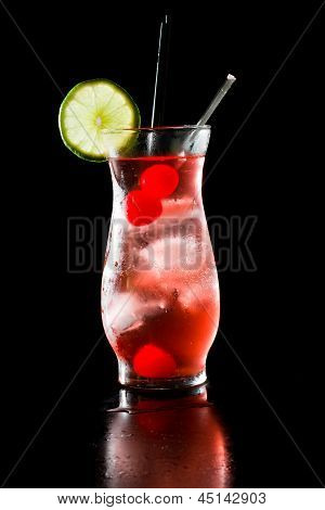 Sparkling Red Cocktail