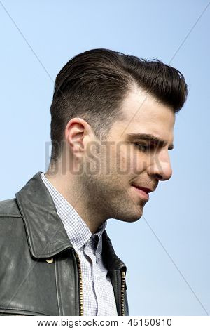 BERLIN - APR 28: Zachary Quinto at the Star Trek - Into Darkness Photo Call on April 28, 2013 in Berlin, Germany