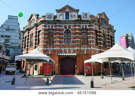 TAIPEI, TAIWAN - JANUARY 19: Red House Theater January 19, 2013 in Taipei, TW. Though built as a marketplace in 1908 during Japanese rule, the building has been used as a theater from 1945 onward.