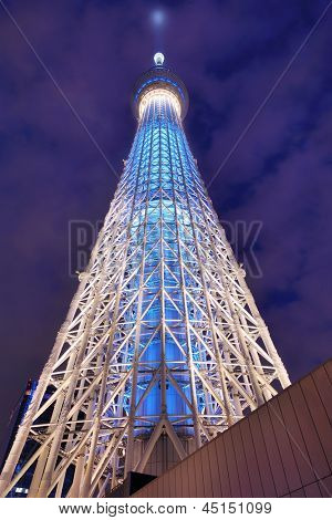 TOKYO -  FEBRUARY 3: The Tokyo Skytree February 3, 2013 in Tokyo, JP. It is the world's 2nd tallest structure at   634 meters.