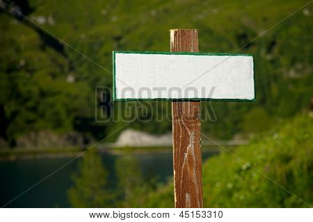 Empty signboard, add you own text
