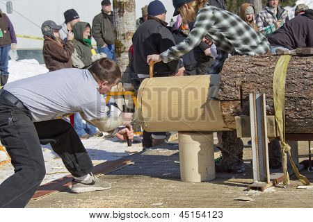Lumberjack Two Man Bucksaw Competition End Cut