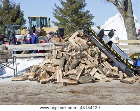Lumberjack Stack Of Wood