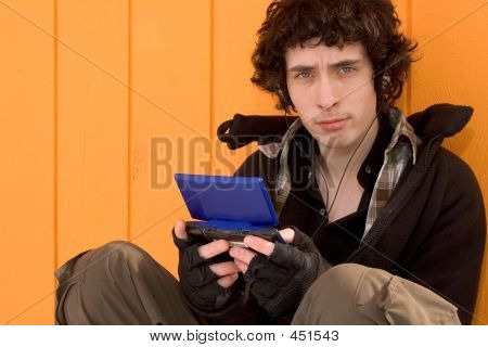 Urban Teen With Game Box